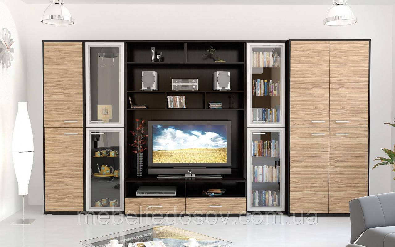 Аманда набор мебели для гостиной (Мебель-Сервис) зебрано+венге - СПД Федосов Г.В. в Белой Церкви