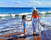 Картина по номерам MR-Q723 Прогулка с мамой Худ Волегов Владимир (40 х 50 см) Mariposa