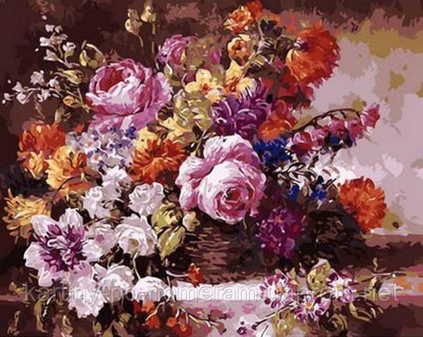 Картина по номерам MR-Q1363 Роскошный букет (40 х 50 см) Mariposa