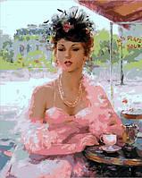 Картина по номерам MR-Q1768 Французское кафе Худ Константин Разумов (40 х 50 см) Mariposa