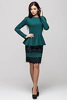 Стильный трикотажный зеленый  костюм Юнона Leo Pride  42-46 размеры