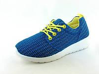 Женские стильные удобные легкие синие кроссовки, сетка 36 Inblu