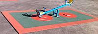 Покрытие из резиновой крошки для открытых и закрытых площадок 20 мм.красное,зеленое.