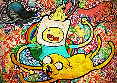 Картина 60х40см Время приключений Пес и его друг