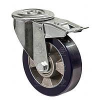 Колеса из алюминия с ошинковкой из мягкого полиуретана Norma з отвер.повор.с шарик.подшØ100-200мм
