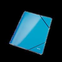 Папка на резинке Leitz, А4 WOW, синий металлик ESSELTE