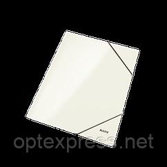 Папка на гумці Leitz, А4 WOW, білий металік ESSELTE