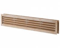 Решітка вентиляційна пластикова Вентс ДВ 430/2 коричнева