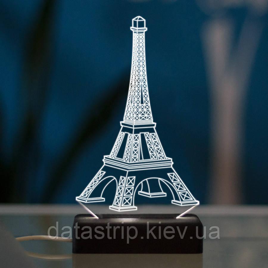 Настольный светодиодный 3D светильник ПАРИЖ