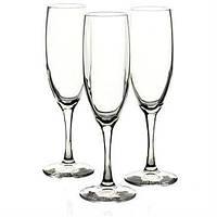Набор бокалов Bormilio Rocco Diamante для шампанского 3 шт. (190 мл)