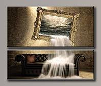 Картина модульная на холсте  Глубокая картина 98*116,5 см.