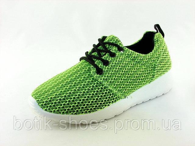 94413bbb Женские стильные удобные легкие салатовые кроссовки, сетка 41 Inblu -  интернет-магазин обуви