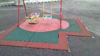 Резиновое покрытие для детских площадок 20 мм. зеленое.