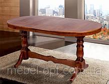 Деревянный обеденный стол Отаман, цвет орех, 1,4 метра, фото 2