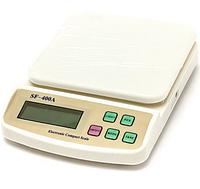 Маленькие кухонные весы SF-400A , 3/5/7 кг, подсветка, тарирование, автоматическое отключение, 2хАА
