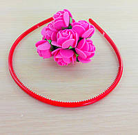 Обруч пластик красный 5 мм(товар при заказе от 500грн)