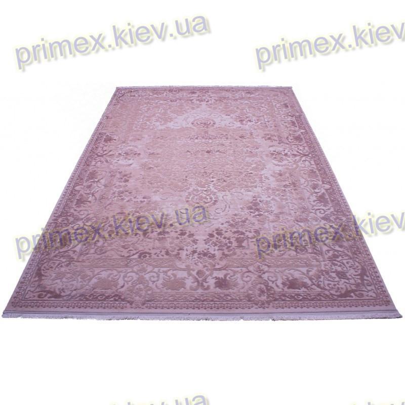 Акриловый рельефный ковер Табоо (Орнамент) цвет розовый