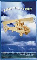 Деревянная 3D модель боевого вертолета