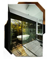 Зеркало с тонированным декором (68х50 см)