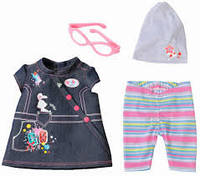 Джинсовая одежда для куклы Baby born Deluxe Zapf Creation 822210