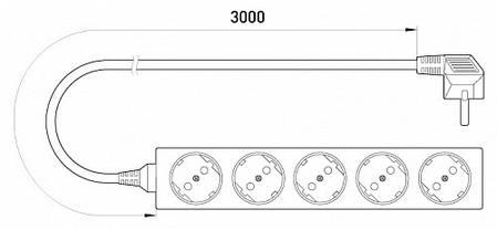 Удлинитель e.es.5.3.z.b 5 гнезд 3м с з/к baby protect, фото 2