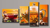Картина модульная на холсте  Чай 2 100*190 см.