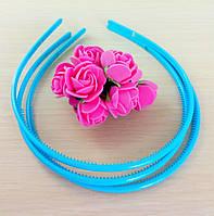 Обруч пластик голубой 5 мм (товар при заказе от 200 грн)