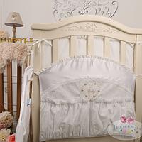 Карман в детскую кроватку Версаль жемчужный