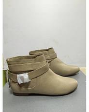 Ботинки женские короткие светло-бежевые с пряжкой Pull@Bear, фото 2