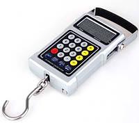 Цифровой безмен 7 в 1, максимальный вес 50 кг, точность 10 г, калькулятор, термометр, рулетка, часы