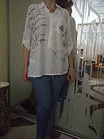Рубашка батист больших размеров из Италии