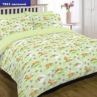 Детское постельное белье Ранфорс(хлопок)7823зеленый ТМ Вилюта