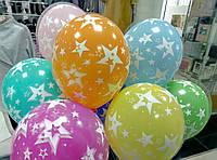 Воздушные гелиевые шары Звезды  шелкография.  Гелиевые шары Троещина. Гелиевые шары Троещина