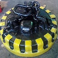 Разгрузка грузов магнитной шайбой