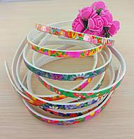 Обруч пластик цветы 10 мм микс