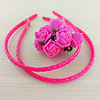 Обруч пластик косичка розовый 7 мм (товар при заказе от 200 грн)