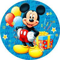 Тарелки праздничные бумажные  Микки Маус. Одноразовая, праздничная посуда