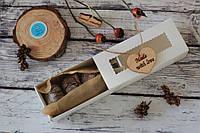Шоколадное печенье в красивой белой коробочке (W4)