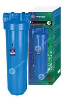 """20"""" Синий обновленный усиленный натрубный корпус фильтра типа """"Big Blue"""", подключение 1"""", спускной клапан, в у"""
