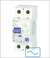 ПЗВ «DFS2 025-2/0,10-AC» тип AC, струм витоку 0,10А, ном.струм 25А