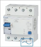ПЗВ «DFS4 063-4/0,03-AC» тип AC, струм витоку 0,03А, ном.струм 63А