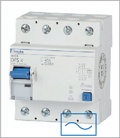 ПЗВ «DFS4 063-4/0,10-AC» тип AC, струм витоку 0,10А, ном.струм 63А