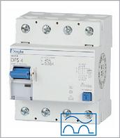 ПЗВ «DFS4 125-4/0,50-A » тип A, струм витоку 0,50А, ном.струм 125А