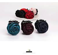 Крабик для волос с цветком из ткани