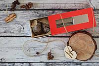 Шоколадное печенье в красной, приятной на ощупь коробочке (R4)