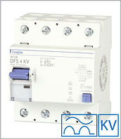 ПЗВ «DFS4 40-4/0,50-A KV» тип A, струм витоку 0,50А, ном.струм 40А