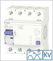 ПЗВ «DFS4 63-4/0,50-A KV» тип A, струм витоку 0,50А, ном.струм 63А