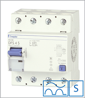 ПЗВ «DFS4 40-4/0,10-A S» селективний тип A, струм витоку 0,10А, ном.струм 40А
