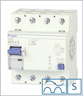 ПЗВ «DFS4 80-4/0,30-A S» селективний тип A, струм витоку 0,30А, ном.струм 80А