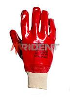Перчатка х/б с ПВХ покрытием и вязанной манжетой TRIDENT 5003
